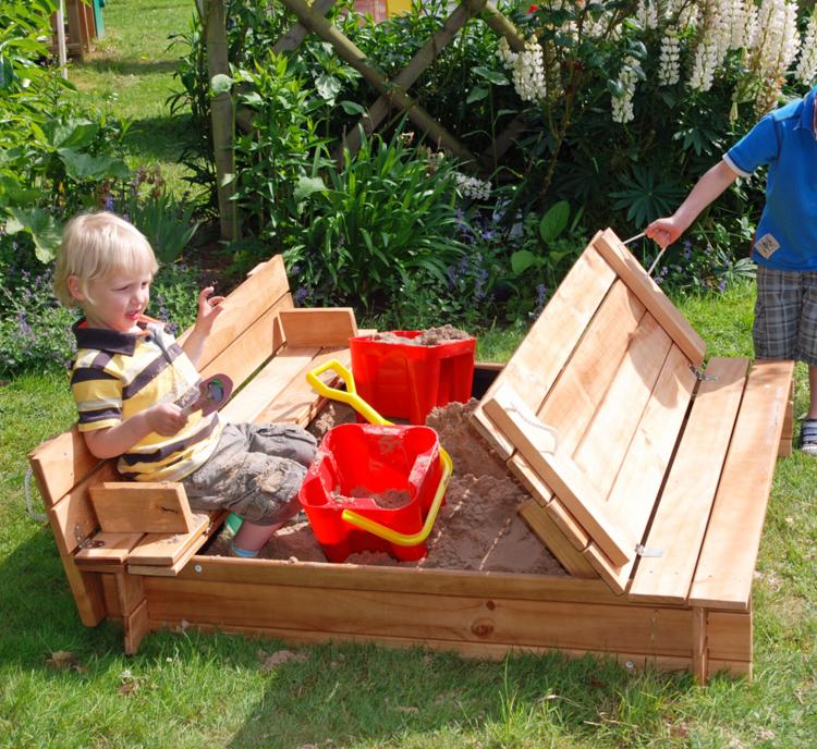 Decoracion Para Baño De Jardin Infantil:Juegos divertidos y areneros para patios de ensueño –