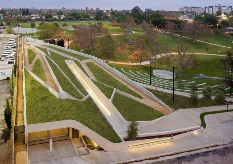 labyrinth corridors terraces green vegetables