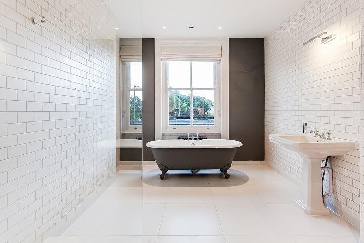 bañeras vintage paredes suelos ladrillos