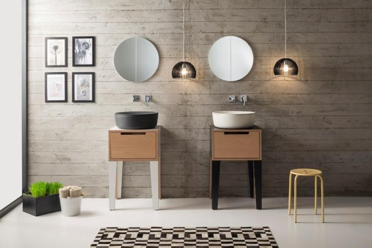 lavabo ceramico madera banos modernos ideas