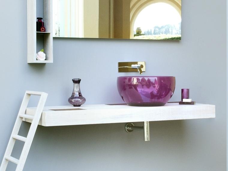 lavabo color purpura forma ovalada ideas