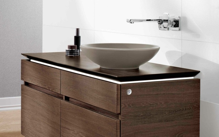 lavabo moderno color oscuro ideas