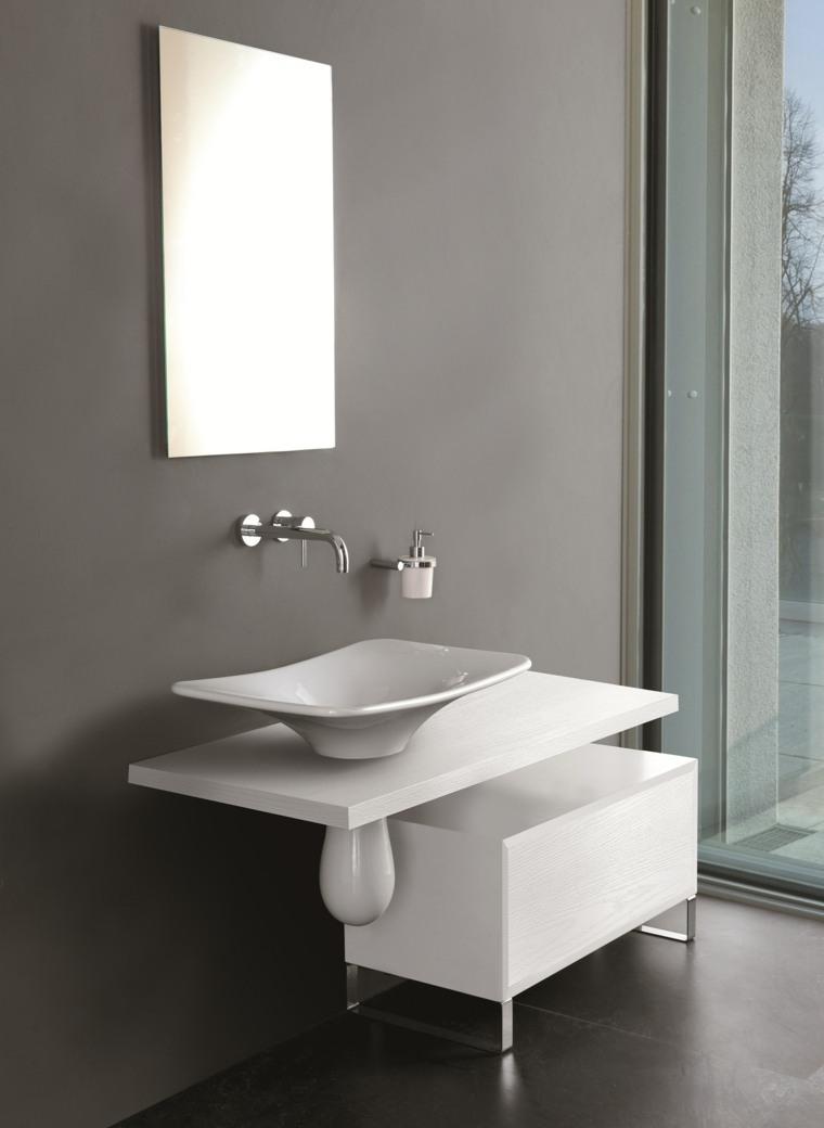 Lavabos modernos 50 opciones de dise o - Muebles de bano de lujo ...