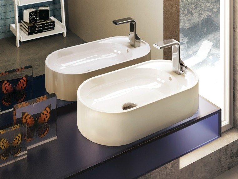 lavabo precioso blanco forma original bano moderno ideas