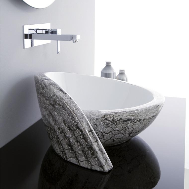 lavabo precioso forma original color gris ideas