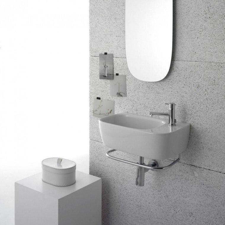 lavabo suspendido ceramica blanco precioso ideas