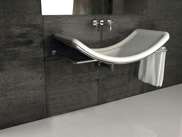 lavabo moderno ceramica forma original ideas
