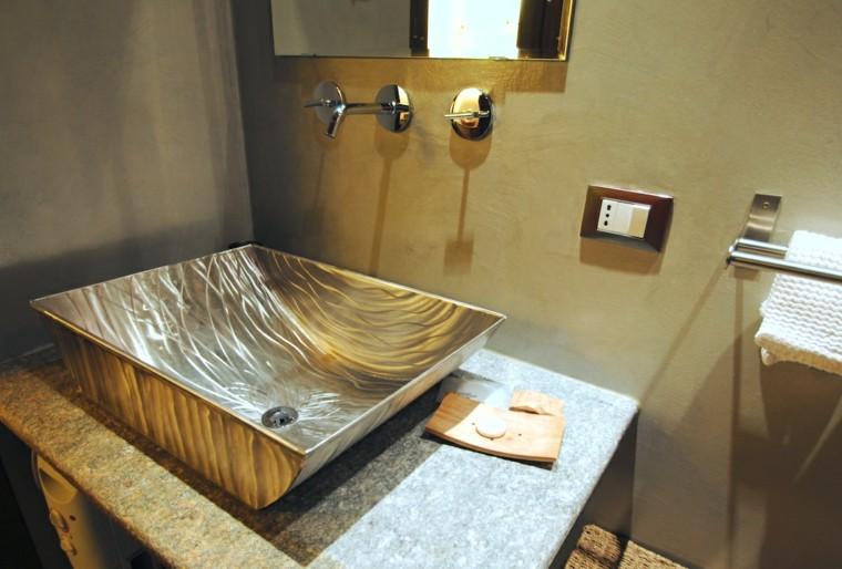 lavabos modernos espejo colores lujo bano ideas