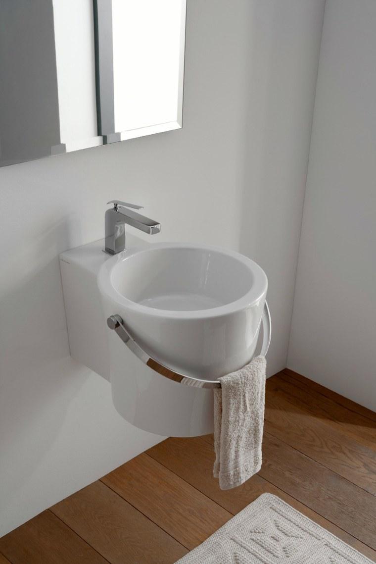 Lavabos modernos 50 opciones de dise o - Encimeras de cristal para lavabos ...