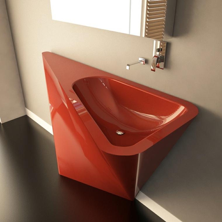lavabos modernos 50 opciones de dise o. Black Bedroom Furniture Sets. Home Design Ideas