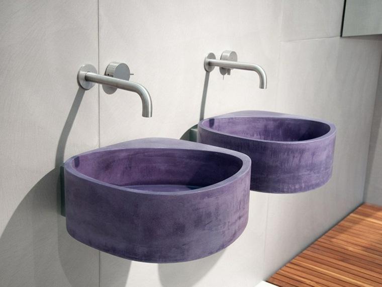 lavabos suspendidos color purpura preciosos ideas