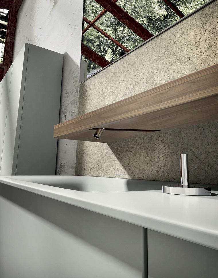 lavabosa modernos estante madera ideas