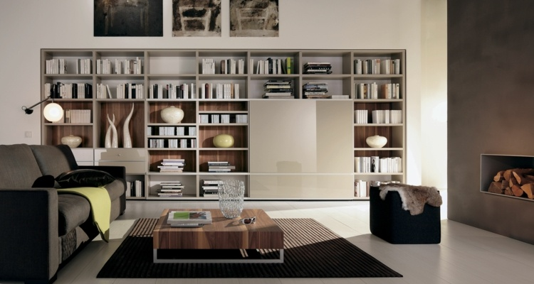 librerias para salon dise os modernos y funcionales