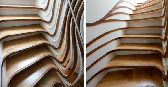 Escaleras creatividad de formas y modelos que rompen la rutina.