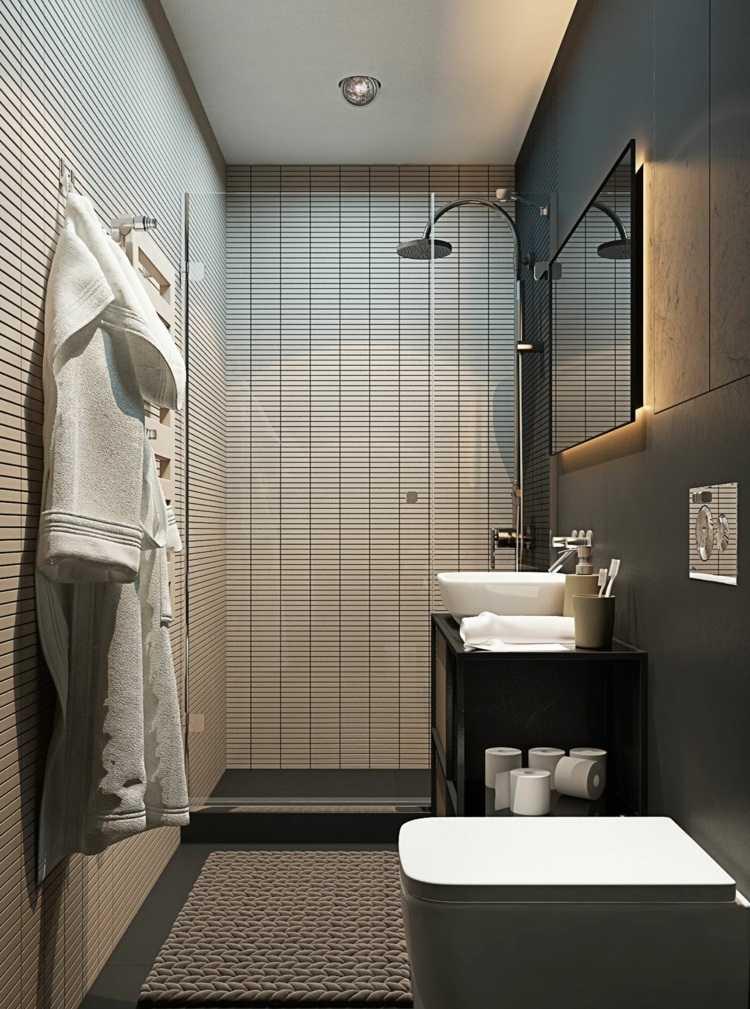 Ba os pequenos con ducha modernos for Ver banos con ducha