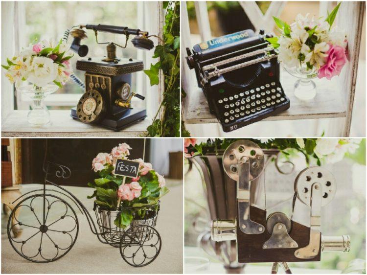 Decoracion de bodas vintage ambientes rom nticos retro - Objetos vintage para decorar ...