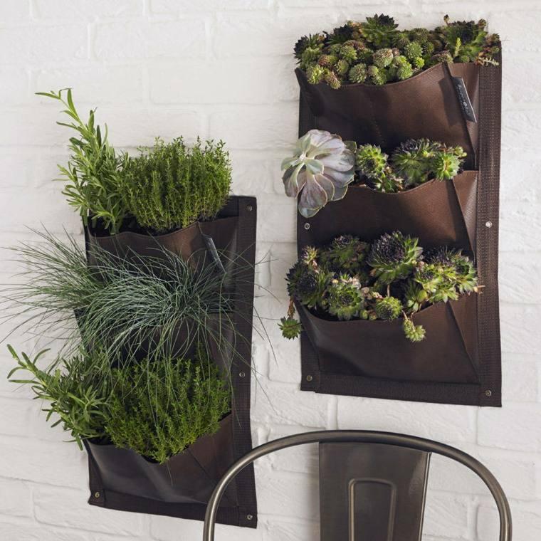 Jardineras verticales ideas sencillas para colgar plantas - Maceteros para pared ...