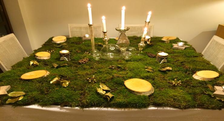 mantel musgos naturales diseño
