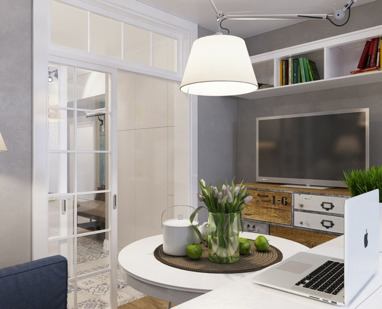 Apartamentos distribucion y dise o para interiores peque os - Diseno salones pequenos ...