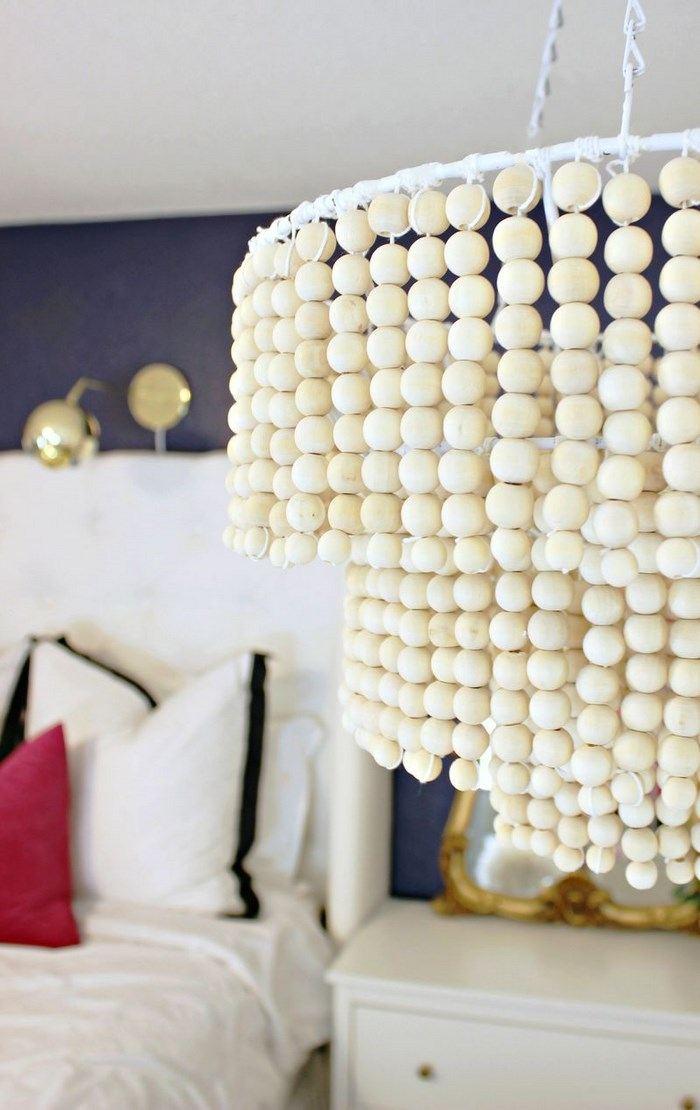 manualidades para regalar lampara guirnaldas bolas madera ideas