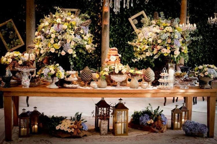 mesa boda tarde jardín