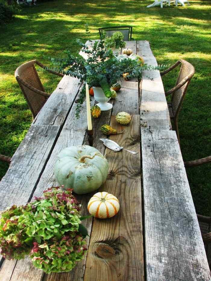 mesa diseño rustico calabazas mesas