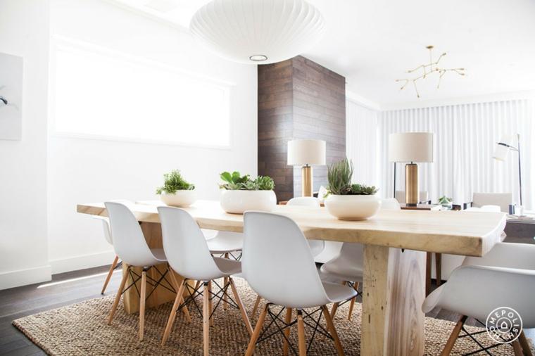 original mesa madera sillas blancas