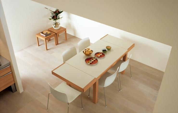 mesa para cocina acoplada diseño sillas