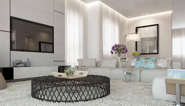 mesa preciosa flores salon blanco ideas
