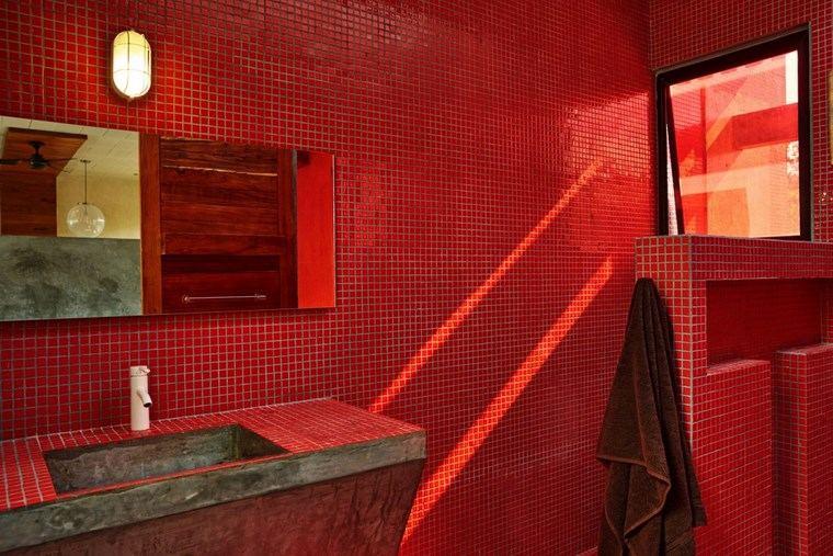 mexico casa diseno bano lavabo hormigon ideas