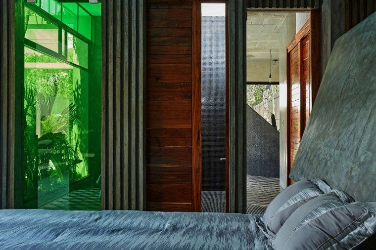 mexico casa diseno dormitorio crital verde ideas