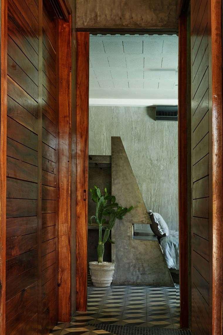 mexico casa diseno entrada paredes madera ideas