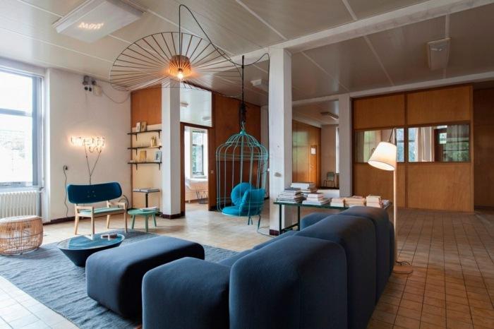 mobiliario creatividad salones azules metales metales