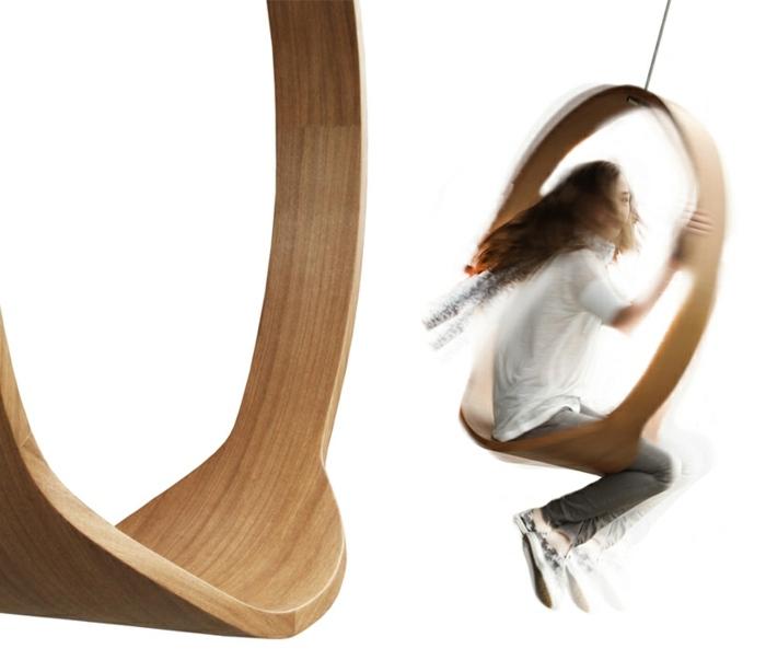 mobiliario creatividad salones maderas columpio