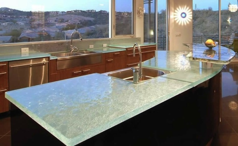 superficie moderna crustal vidrio