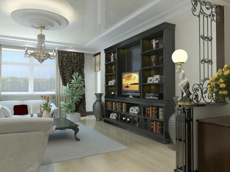 mueble estanterias color negro salón