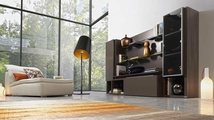 mueble librería color marrón