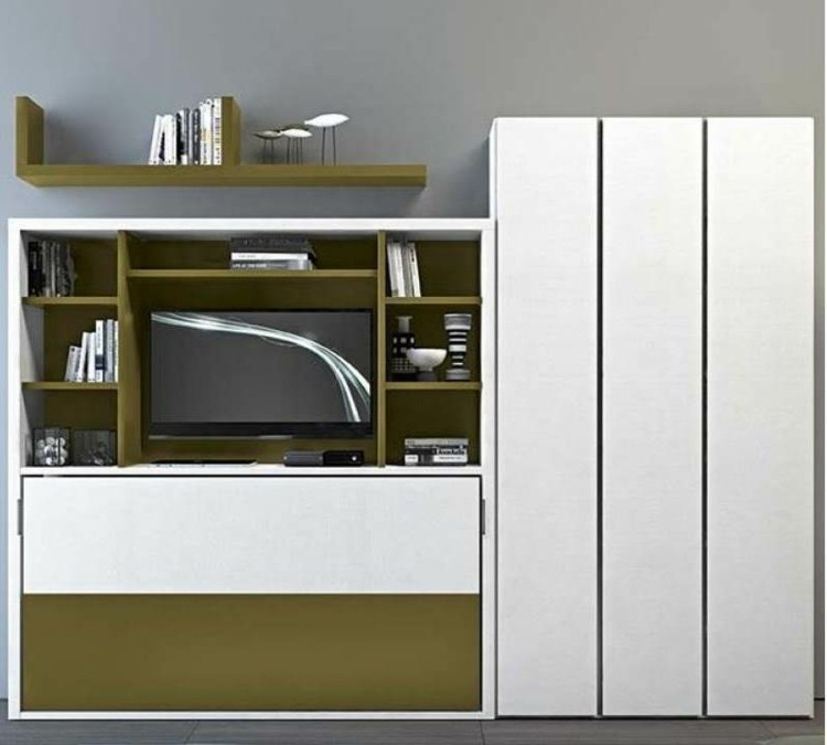 mueble salon color blanco verde