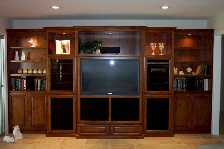 mueble integrado estantes madera