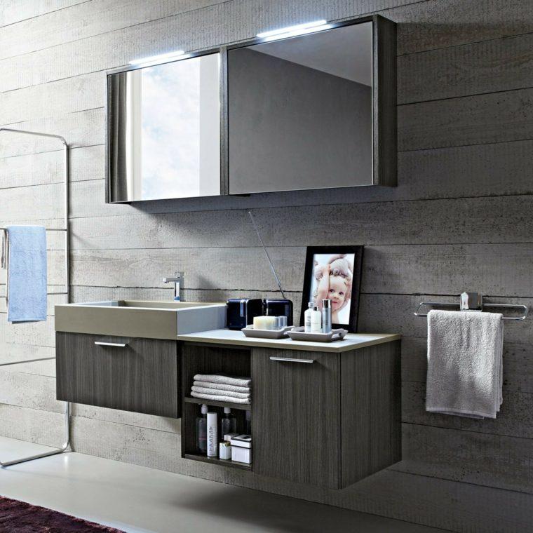 muebles bano color gris lavabo precioso ideas