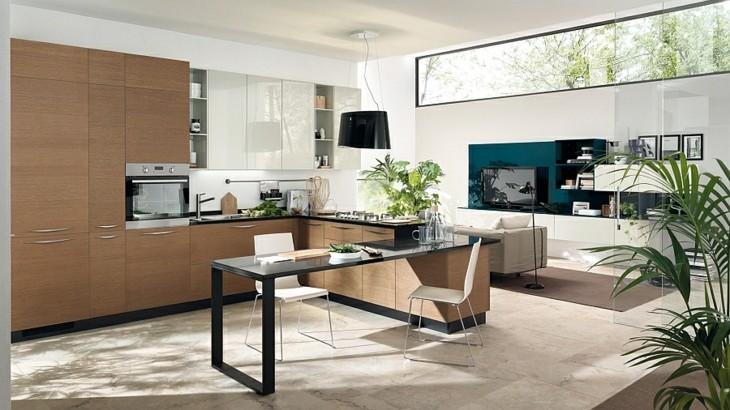 Cocinas modernas distribucion en u y otras variantes - Cuanto gana un disenador de interiores ...