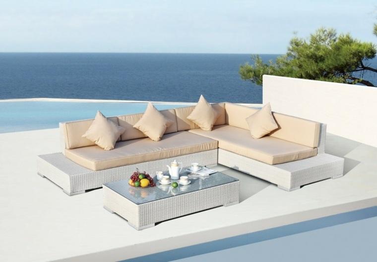 muebles blancos sofa preciosa mesa vistas ideas