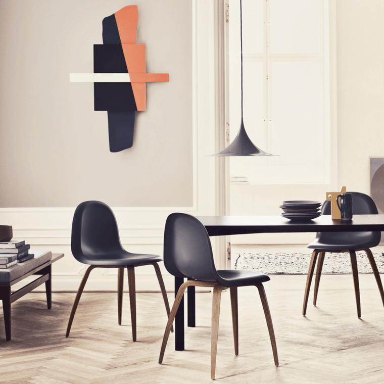 muebles comedor color negro originales