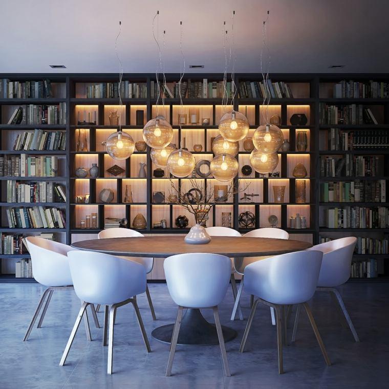 muebles de comedor disenos originales mesa ovalada ideas