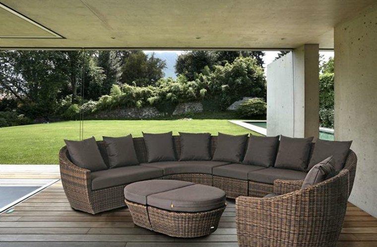 Sofas jardin los 50 mejores modelos de esta temporada - Muebles de jardin de ratan ...
