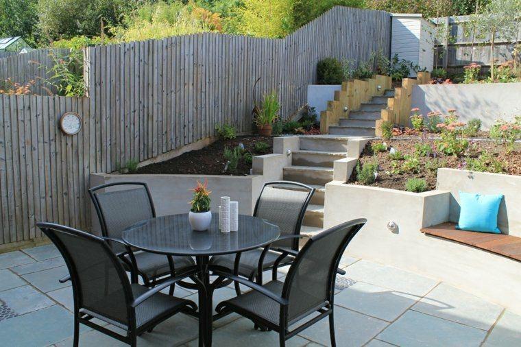 muebles jardin terrazas plantas silla mesa ideas