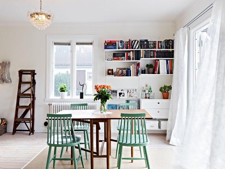 muebles originales comedores sillas-verde