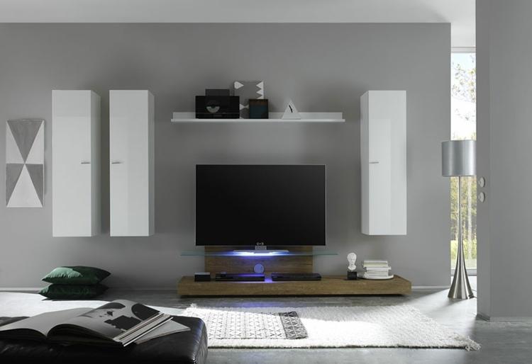 muebles integrados pared diseño moderno