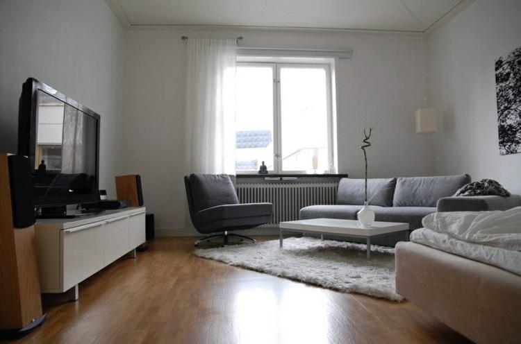 Salon gris y blanco la tendencia de esta temporada - Muebles sala estar ...