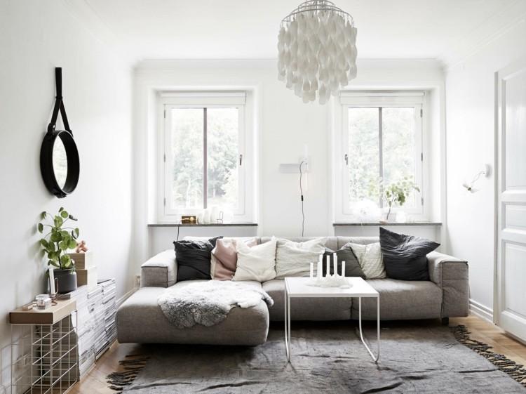 muebles salón color gris
